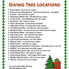 Where to find our Giving Trees
