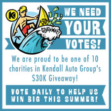 Help us receive $5K by voting for us daily in the Kendall Cares Giveaway! Vote everyday from June 18th - August 31st, 2018!