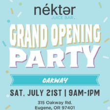 Nekter Grand Opening Party to benefit Relief Nursery, Saturday, July 21st 9am-1pm @ Oakway Center