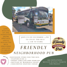 Stuff the Bus at the Friendly Neighborhood Pub