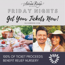 Friday Night Concerts at Silvan Ridge, July 3rd (Sold Out) and 31st (Tickets Still Available!)